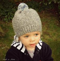 made in home toddler pompom beanie hat a free pattern