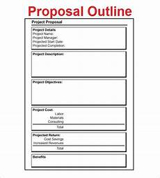 Cool Proposal Template 20 Proposal Outline Templates Doc Pdf With Images