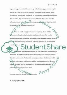 Essays On Privacy Internet Privacy Research Paper Example Topics And Well