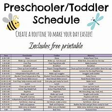 Printable Daily Schedule Kids Toddler And Preschooler Daily Schedule Tales Of Beauty