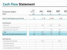 Cash Flow Templates Excel Cash Flow Statement Office Templates