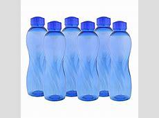 Cello Twisty PET Bottle Set, 1000ml, Set of 6, Blue