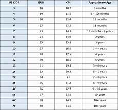 Shoe Number Size Chart Size Guide For Shoes From Getoutsideshoes Com