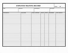 Staff Training Record Template Free 7 Training Record Template In Excel Excel Templates
