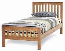 yeoville hevea wood honey oak bed frame sensation