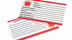 Medical Alert Cards Templates Free Printable Medical Id Wallet Cards Top Ten Reviews