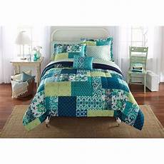 xl college boy teal white 6 8pc bed