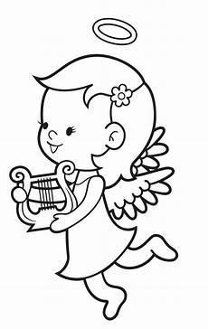 Malvorlagen Engel Weihnachten Ausmalbild Engel Kostenlose Malvorlage Engel Mit Harfe