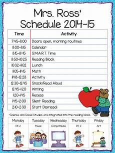 Teacher Schedule Class Schedule Freebie Teacher By The Beach