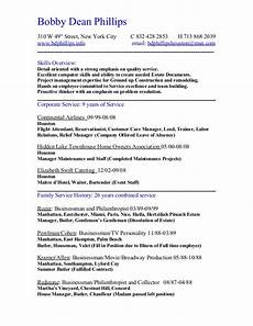 Resume Complete Resume Chronological Short Complete
