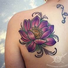 Lotus Flower Designs On Shoulder Left Back Shoulder Lotus Flower By Savannah Colleen