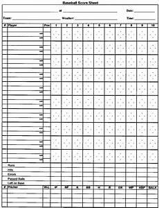 Baseball Scorecard Baseball Score Sheet Business Mentor