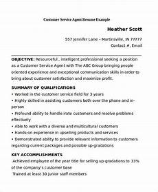Customer Service Agent Resume 11 Customer Service Resume Templates Pdf Doc Free