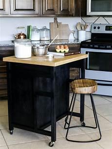 how to build a diy kitchen island on wheels hgtv