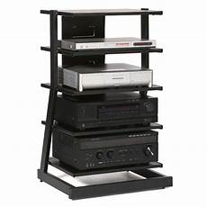 plateau z series 5 shelf modern audio rack black z 5ab
