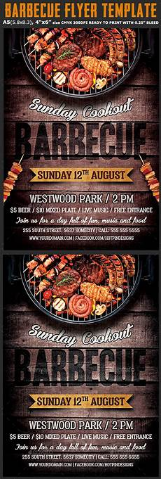 Chicken Bbq Flyer Template Barbecue Bbq Flyer Template By Hotpin Graphicriver