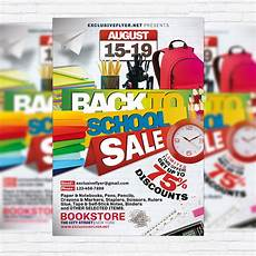 Back To School Flyer Templates Back To School Sale Premium Psd Flyer Template