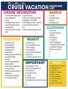 Printable Packing List For Cruise Cruise Vacation Packing List Free Printable Download