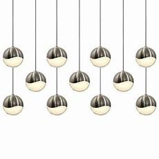 Multipoint Pendant Lighting Grapes Led 11 Light Rectangular Multipoint Pendant By