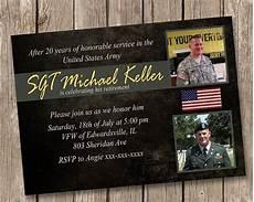 Military Retirement Invitations Army Retirement Party Invitation
