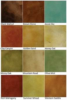 Stained Concrete Colors Chart Color Charts Custom Coatings Concrete Floor Finishes