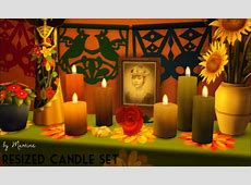 Resized candle set at Martine?s Simblr » Sims 4 Updates