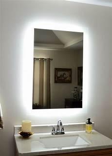 Bathroom Mirror Side Lights Lighted Vanity Mirror Make Up Wall Mounted Led Bath
