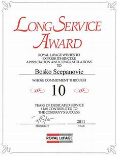 Years Of Service Certificate Long Service Certificate Template Sample 1
