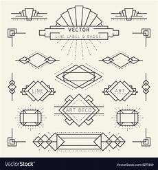 Art Deco Vector Art Deco Line Royalty Free Vector Image Vectorstock