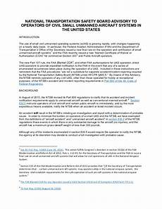 Aircraft Incident Report Uas Accident And Incident Reporting To Ntsb