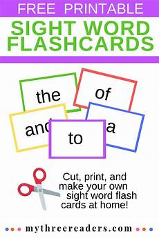 Flash Cards Words Make Your Own Sight Word Flash Cards Free Printable For