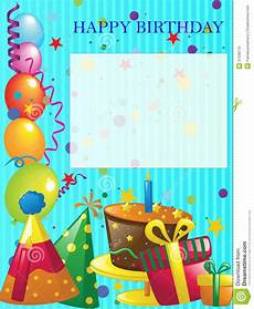 Birthday Invite Images Happy Birthday Background Stock Illustration Illustration