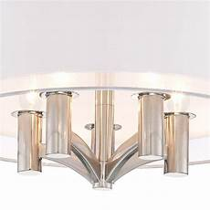 Caliari 18 Wide Brushed Nickel 5 Light Ceiling Light Caliari 18 Quot Wide Brushed Nickel 5 Light Ceiling Light
