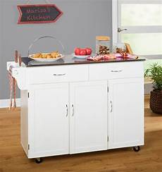 white kitchen island with stainless steel top barrel studio garrettsville kitchen island with