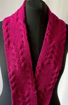 knitting scarves cascade yarns reversible cabled scarf 220