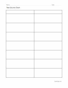 Two Column Template Word Two Column Chart Freeology