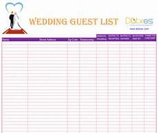 Free Wedding Guest List Template Blank Wedding Guest List Template Dotxes