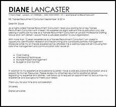 Sample Letter To Recruiter For Job Trainee Recruitment Consultant Cover Letter Sample