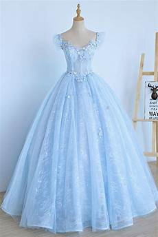 Light Blue Dress Cap Sleeves Light Blue Lace Cap Sleeve Long Sweet 16 Prom By Prom