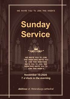 Church Invitations Free Church Sunday Service Invitation Templates