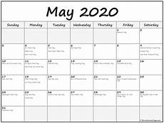 2020 Printable Monthly Calendar With Holidays Collection Of May 2020 Calendars With Holidays