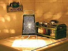 Cheese Grater Kitchen Lights Cheese Grater Into A Kitchen Light Diy Kitchen Lighting