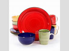 Gibson Home Color Vibes 12 Piece Round Dinnerware Set