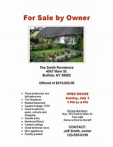 Home For Sale By Owner Flyer Beautiful Amp Easy To Use For Sale By Owner Flyer Flyers