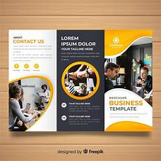 Tri Fold Flyer Business Trifold Brochure Vector Free Download