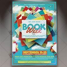 Flyers Book Book Week Premium Flyer Psd Template Psdmarket