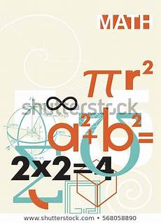 Maths Cover Page Design Mathematical Symbol Stock Images Royalty Free Images
