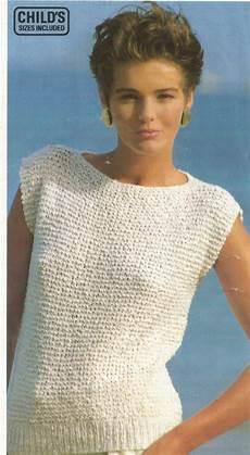 easy knitting pattern top in garter stitch