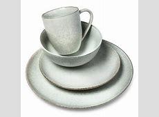 Solene Square Stoneware 16pc Dinnerware Set Dark Gray
