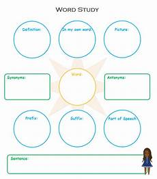 Word Web Templates Vocabulary Study Graphic Organizers Free Templates